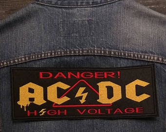 Big Back Patch AC/DC High Voltage Hard rock  Rock and Roll Band.