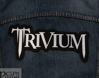 Big Back Patch Trivium Metalcore Thrash Heavy Metal Logo Band