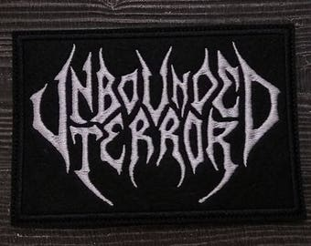 Patch Unbounded Terror Death Metal Band.