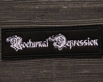 Patch Nocturnal Depression Black Metal D.S.B.M Band.