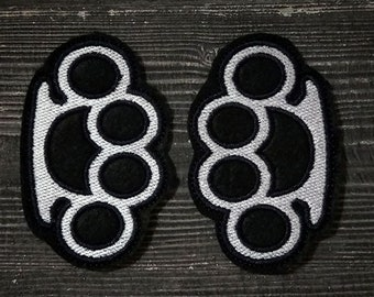 Patch  Brass knuckles 2 pieces.