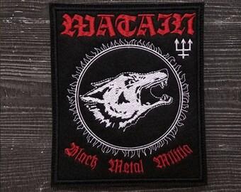 Patch Watain Wolves Black Metal Militia.