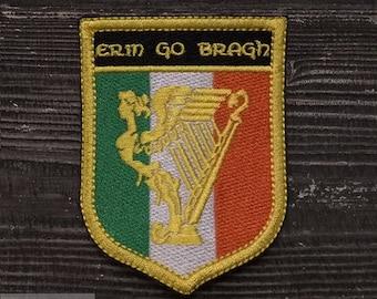 Patch Irish harp shield.