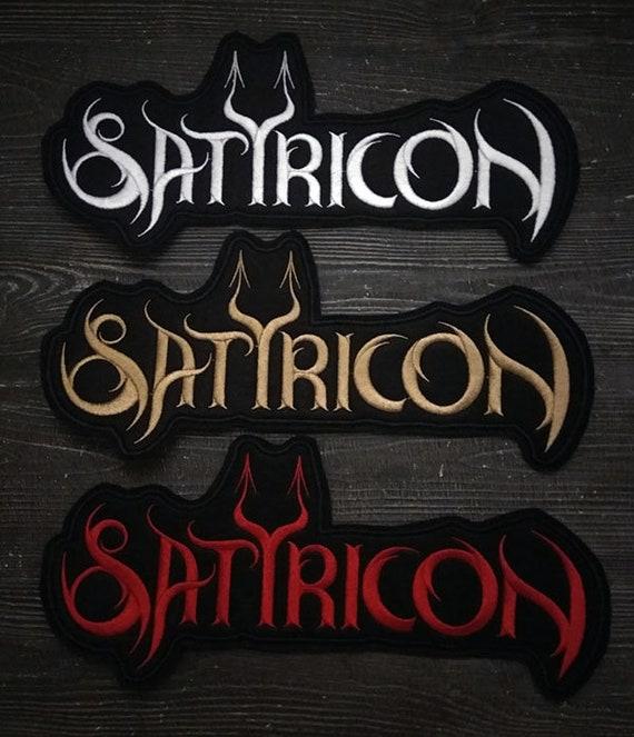 Patch Satyricon Logo black metal band.
