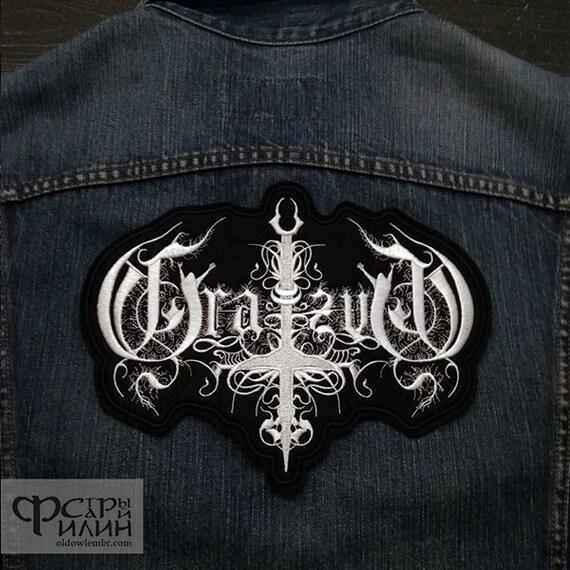 Big Back patch Finntroll Blackened Folk Metal logo band.