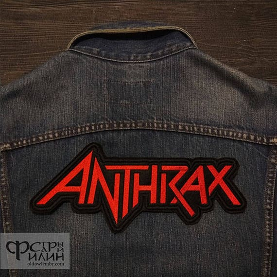 ANTHRAX  BACK JACKET XL  Embroidered Iron On Sew On Patch Biker