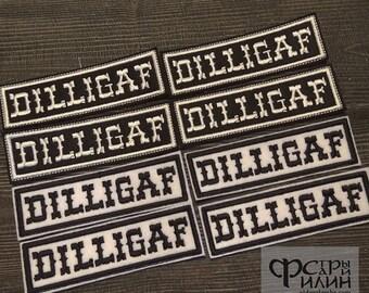 Dilligaf  biker patch