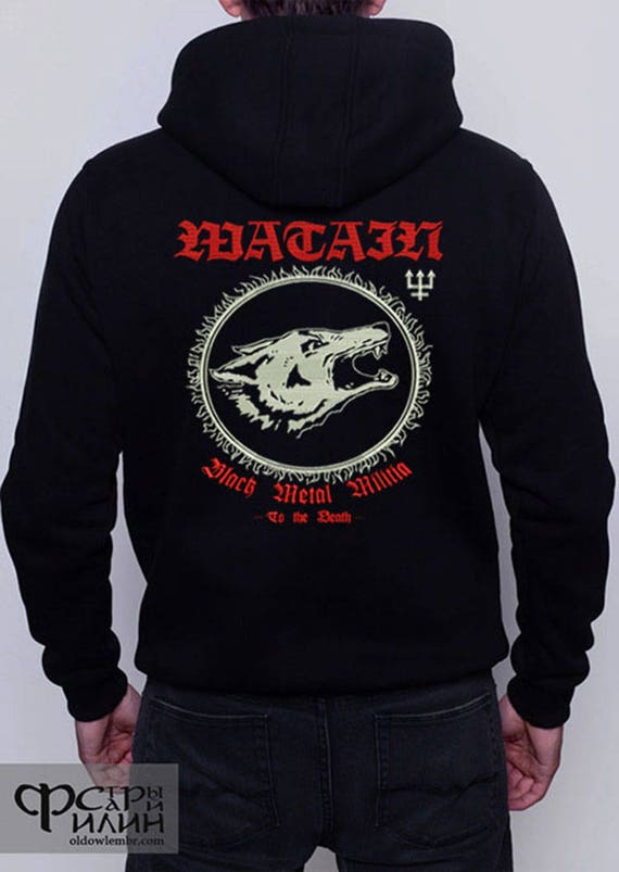 Hoodie embroidery Watain Black Metal Militia