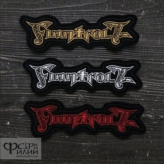 Patch Finntroll Blackened Folk Metal old logo band.
