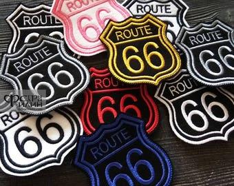 Route 66 biker patch
