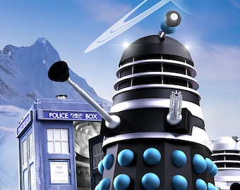 Masters of Time. Doctor Who Dalek print.