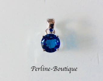 Blue Crystal 925 Sterling Silver Pendant