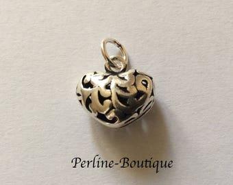 Silver heart charm 925 12 * 12mm