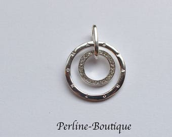 Silver plated circles pendant