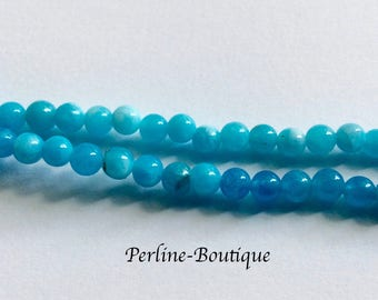 20 4mm blue dyed Jade beads