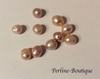 10 freshwater round Pearl Pink 7 / 8mm