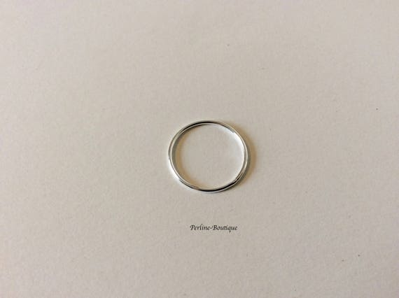 Sterling Silver #5002360CL Made in USA 6mm Spring Ring Light w Closed Ring