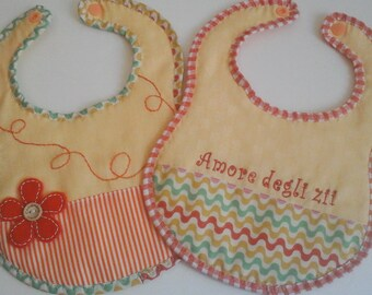"""Love of Uncles"" bibs Set for Bimbo"