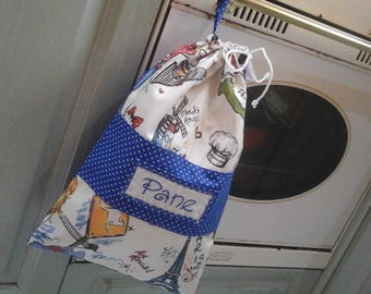 Bread bag in blue and white