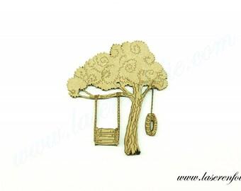 Swing into the tree, made of medium size 5cm