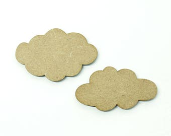 Set of clouds made of medium size 5cm