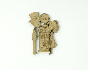 Groom before the priest, made of medium size 5cm