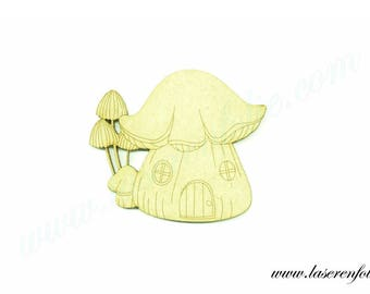 The Mushroom House, made of medium, size 5cm