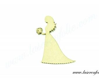 Bridal bouquet, hair, made of medium size 5cm