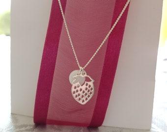 Handmade ceramic pendant.