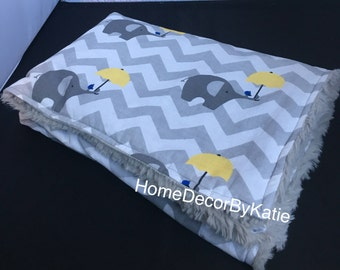 Baby blanket receiving blanket baby elephant blanket baby gift new born blanket