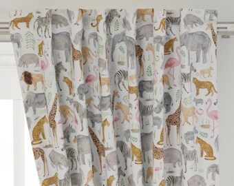 Neutral Curtains drapes trees curtains nursery curtains baby gift new born Bedding