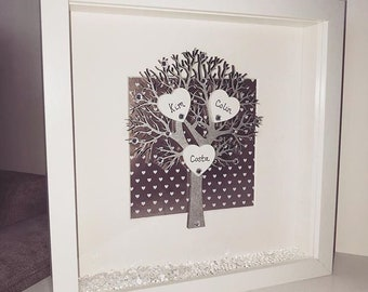 Beautiful Personalised Family Tree Frame