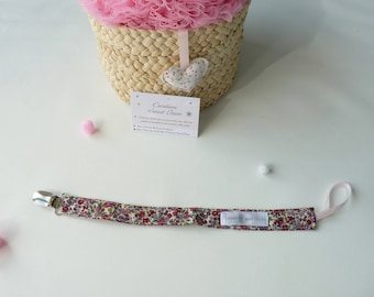 Pacifier lollipop fabric liberty plum and pink