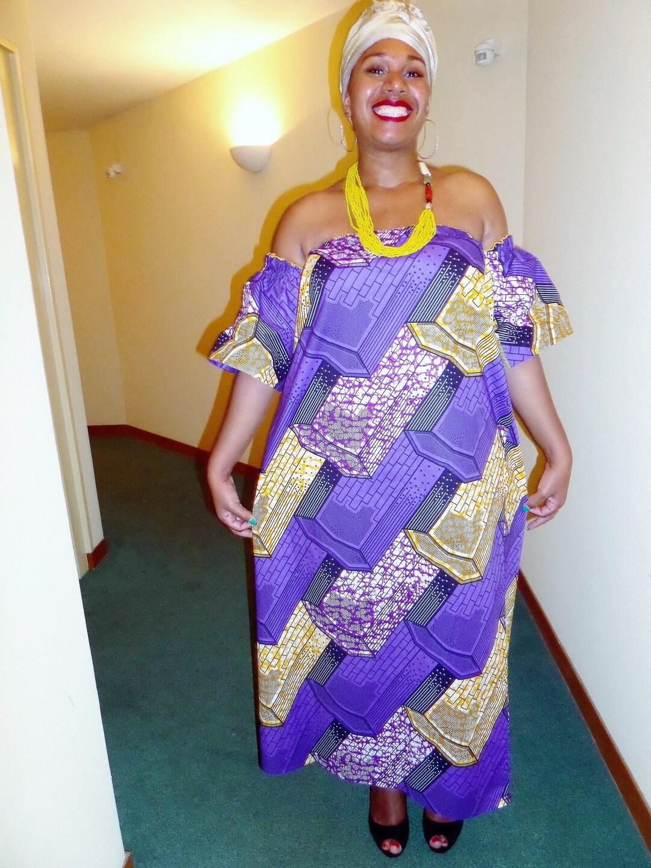Robe longue femme robe africaine tissu wax robe pagne   Etsy