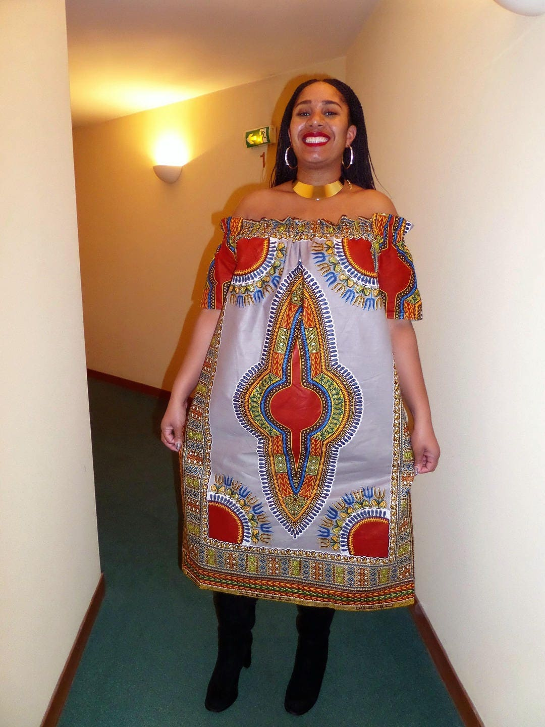 Robe ample femme robe africaine tissu wax robe pagne pagne ...