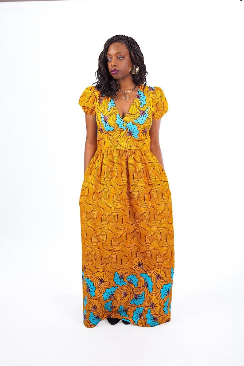 Wax Y29wehdi Longue Robe Pagneetsy Africaine Tissu Femme j34LR5A