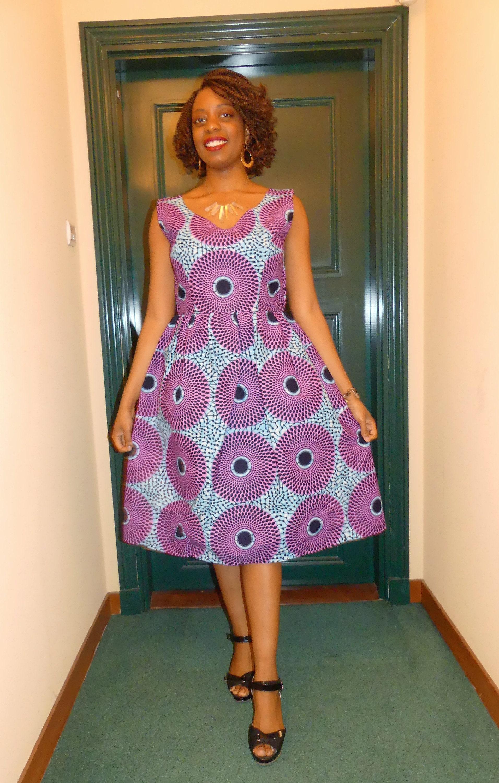 Robe courte wax robe africaine robe wax robe pagne | Etsy