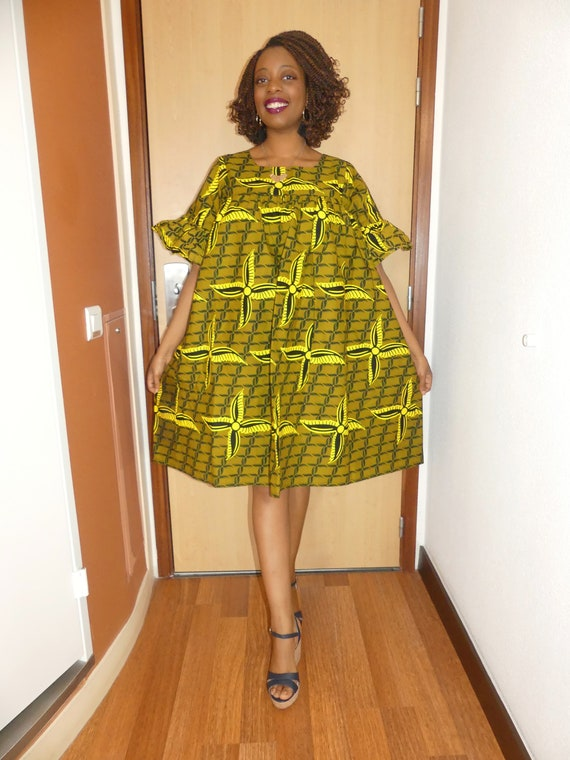 Robe ample femme robe africaine tissu wax robe pagne pagne | Etsy