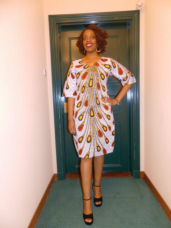 Modele robe droite pagne