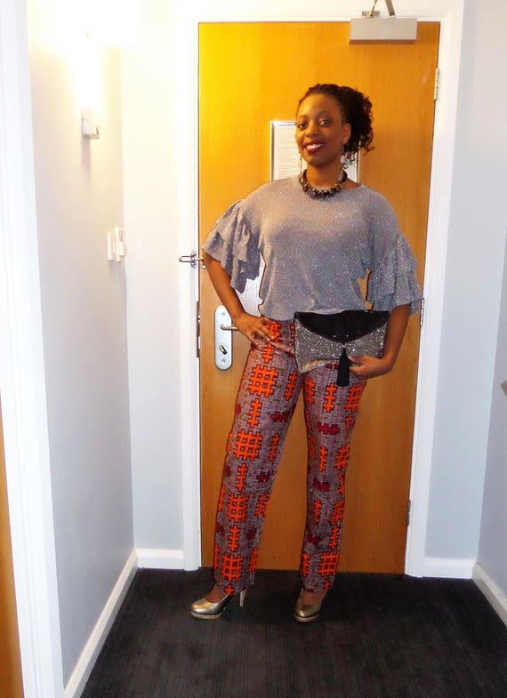 Meilleure vente vente chaude réel nouvelles photos Pantalon wax femme, pantalon large, taille haute, pantalon africain,  imprimé africain, mode africaine, pagne africain, vêtement africain