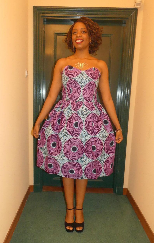 Africain Courte Robe Robe Africain WaxPagne Robe Courte WaxPagne PZilwOkXuT