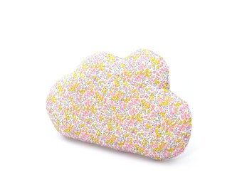Cloud cushion in liberty wiltshire bud aurora
