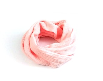 Spring Snood, light neck, double cotton gauze, for children or adults