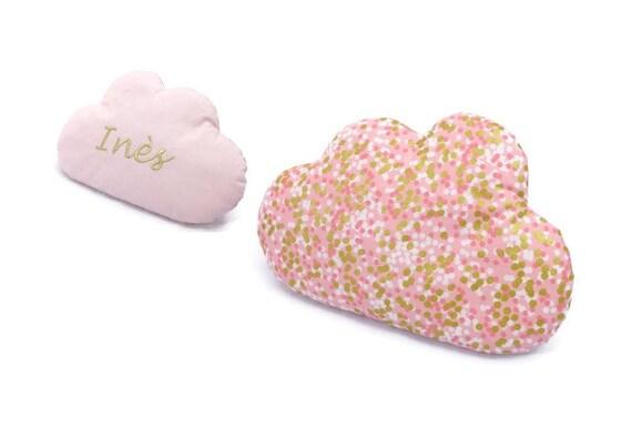 coussin nuage personnalis 20 x 30 cm une face motif rose etsy. Black Bedroom Furniture Sets. Home Design Ideas