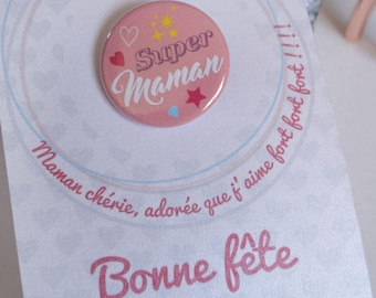 MOM card badge, mother's day gift