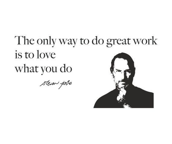Wall Art Removable Vinyl Sticker Great Work Decor for Office Studio Wall Decal Wall Sticker Quote Steve Jobs