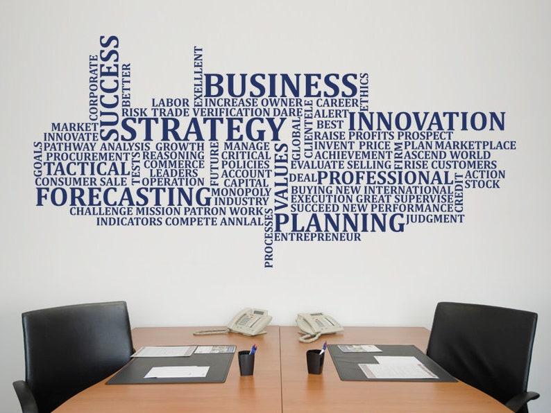 Business Sticker Mural Bureau Sticker Mural Décor De Etsy