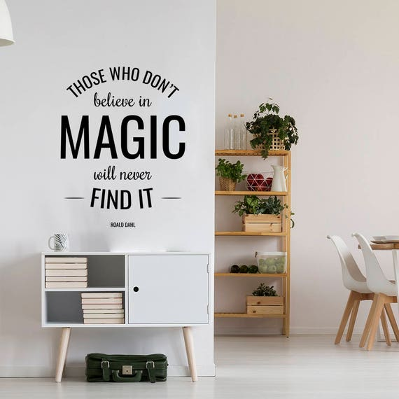 believe in magic wall sticker studio wall decal decor for | etsy
