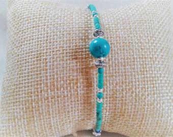 Bracelet Turquoise Jewelry-Malachite stone - the Nepal jewelry