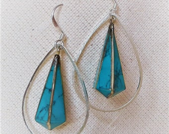 The Nepal ethnic earrings turquoise